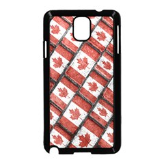 Canadian Flag Motif Pattern Samsung Galaxy Note 3 Neo Hardshell Case (black)