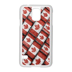 Canadian Flag Motif Pattern Samsung Galaxy S5 Case (white)