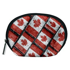 Canadian Flag Motif Pattern Accessory Pouches (medium)