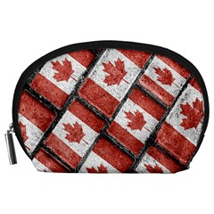 Canadian Flag Motif Pattern Accessory Pouches (large)