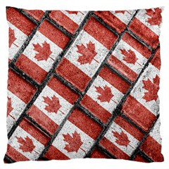 Canadian Flag Motif Pattern Large Flano Cushion Case (two Sides)