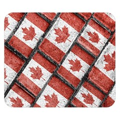 Canadian Flag Motif Pattern Double Sided Flano Blanket (small)