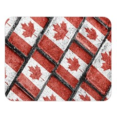 Canadian Flag Motif Pattern Double Sided Flano Blanket (large)