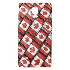 Canadian Flag Motif Pattern Galaxy Note 4 Back Case