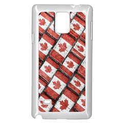 Canadian Flag Motif Pattern Samsung Galaxy Note 4 Case (white)