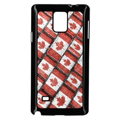 Canadian Flag Motif Pattern Samsung Galaxy Note 4 Case (black)