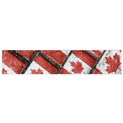 Canadian Flag Motif Pattern Flano Scarf (small)