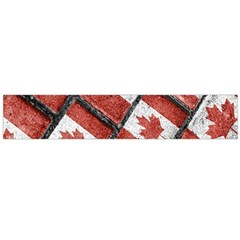Canadian Flag Motif Pattern Flano Scarf (large)