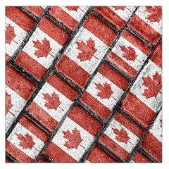 Canadian Flag Motif Pattern Large Satin Scarf (square)