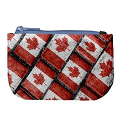 Canadian Flag Motif Pattern Large Coin Purse