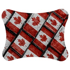 Canadian Flag Motif Pattern Jigsaw Puzzle Photo Stand (bow)