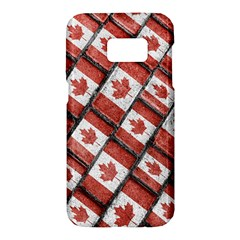 Canadian Flag Motif Pattern Samsung Galaxy S7 Hardshell Case
