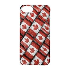 Canadian Flag Motif Pattern Apple Iphone 7 Hardshell Case