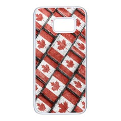 Canadian Flag Motif Pattern Samsung Galaxy S7 White Seamless Case