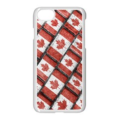 Canadian Flag Motif Pattern Apple Iphone 7 Seamless Case (white)