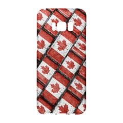 Canadian Flag Motif Pattern Samsung Galaxy S8 Hardshell Case