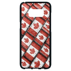 Canadian Flag Motif Pattern Samsung Galaxy S8 Black Seamless Case