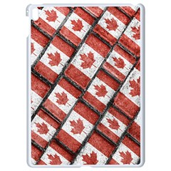 Canadian Flag Motif Pattern Apple Ipad Pro 9 7   White Seamless Case
