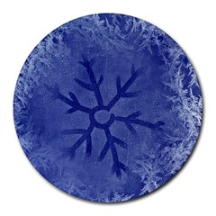 Winter Hardest Frost Cold Round Mousepads