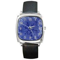 Winter Hardest Frost Cold Square Metal Watch