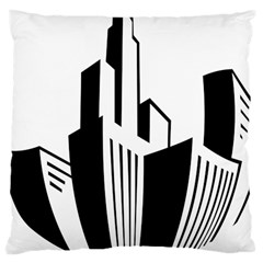 Tower City Town Building Black White Large Cushion Case (one Side)