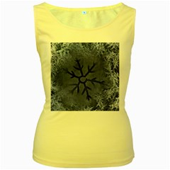 Winter Hardest Frost Cold Women s Yellow Tank Top