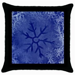 Winter Hardest Frost Cold Throw Pillow Case (black)
