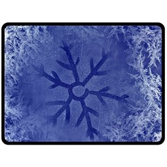 Winter Hardest Frost Cold Double Sided Fleece Blanket (large)