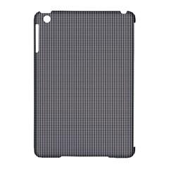 Black Polka Dots Line Plaid Apple Ipad Mini Hardshell Case (compatible With Smart Cover)
