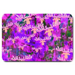 Watercolour Paint Dripping Ink Large Doormat