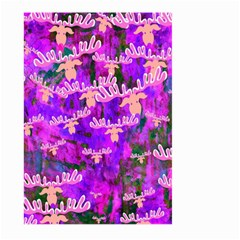 Watercolour Paint Dripping Ink Large Garden Flag (two Sides)
