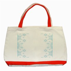 The Background Snow Snowflakes Classic Tote Bag (red)
