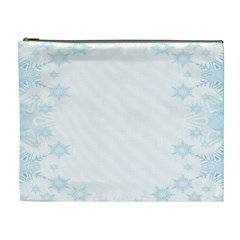 The Background Snow Snowflakes Cosmetic Bag (xl)