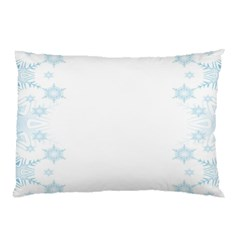 The Background Snow Snowflakes Pillow Case (two Sides)