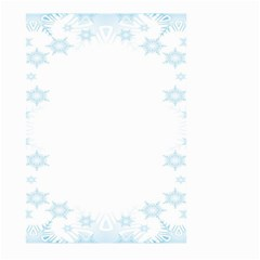 The Background Snow Snowflakes Large Garden Flag (two Sides)