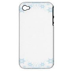 The Background Snow Snowflakes Apple Iphone 4/4s Hardshell Case (pc+silicone)