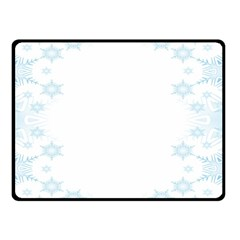 The Background Snow Snowflakes Double Sided Fleece Blanket (small)