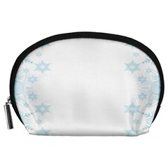 The Background Snow Snowflakes Accessory Pouches (large)