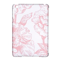Vintage Pink Floral Apple Ipad Mini Hardshell Case (compatible With Smart Cover)