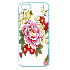 Butterfly Flowers Rose Apple Seamless Iphone 5 Case (color)