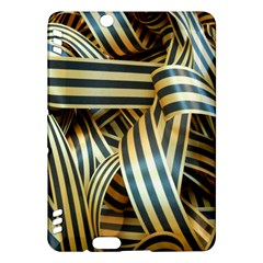 Ribbons Black Yellow Kindle Fire Hdx Hardshell Case