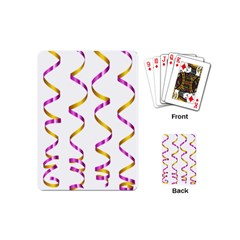 Tape Birthday Ribbon Party Yellow Purple Playing Cards (mini)