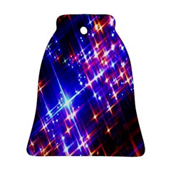 Star Light Space Planet Rainbow Sky Blue Red Purple Ornament (bell)