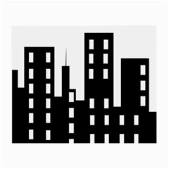 Tower City Town Building Black Small Glasses Cloth (2 Side)