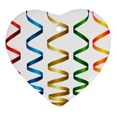 Tape Birthday Ribbon Party Yellow Red Blue Green Gold Rainbow Ornament (heart)