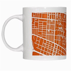 Texsas New York Map Art City Line Street White Mugs