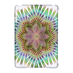 Star Flower Glass Sexy Chromatic Symmetric Apple Ipad Mini Hardshell Case (compatible With Smart Cover)