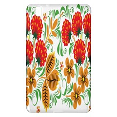 Flower Floral Red Yellow Leaf Green Sexy Summer Samsung Galaxy Tab Pro 8 4 Hardshell Case