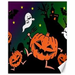 Happy Halloween Canvas 11  X 14