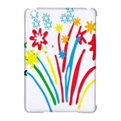 Fireworks Rainbow Flower Apple Ipad Mini Hardshell Case (compatible With Smart Cover)